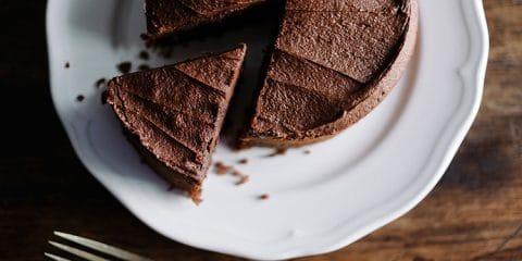 chocoladetaart met nootjes