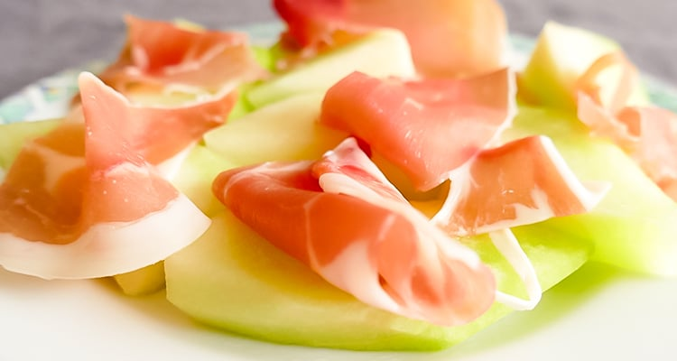 serranoham met meloen