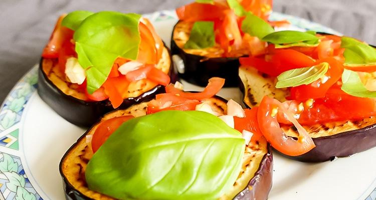 aubergine met groente