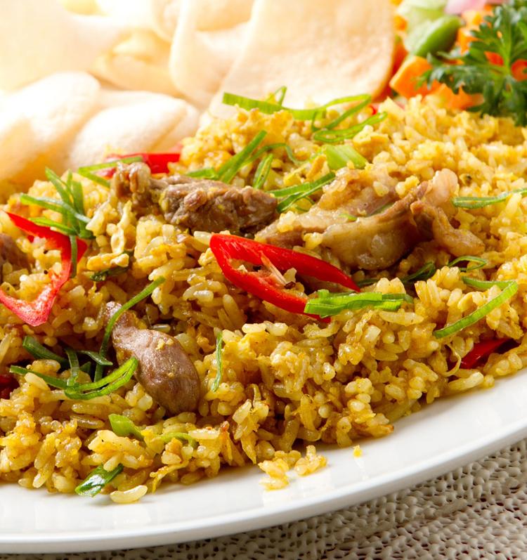 gebakken rijst gerecht