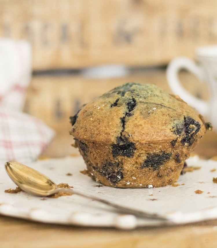 muffin met blauwe bessen