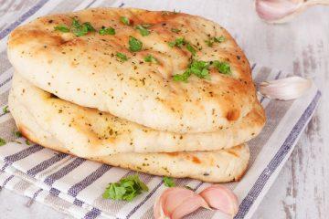 naanbrood met knoflook