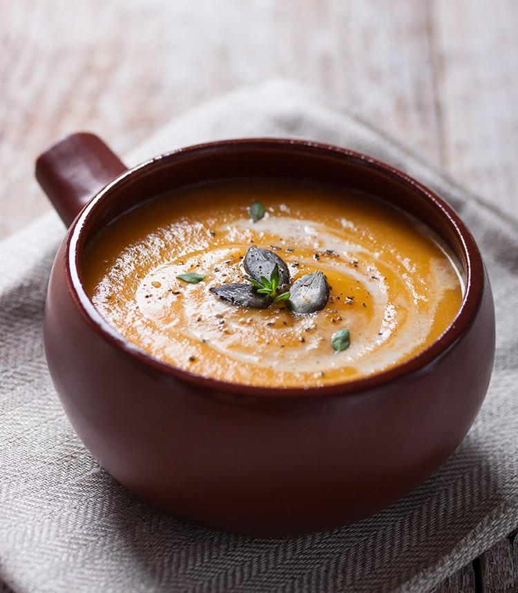 pompoen soep maken