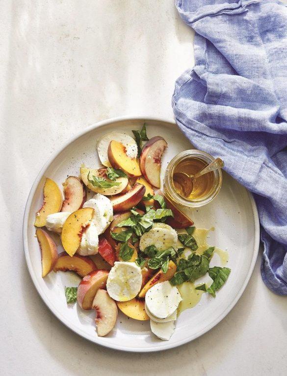 perzik salade recept